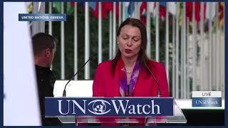 Israeli Ambassador Aviva Raz Shechter Speaks at UN Watch Rally Against Anti-Israeli Bias