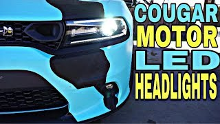 INSTALLING COUGAR MOTOR LED HEADLIGHTS IN MY 2019 SCATPACK CHARGER!!!