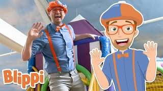 Blippi Visits Amys Playground! | Learn Colors For Kids | Educational Videos For Toddlers
