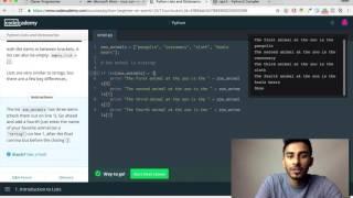 Codecademy - Python: Tutorial #7