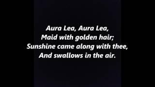 AURA LEA LEE words lyrics best like Elvis Presley Love Me Tender sing along song songs