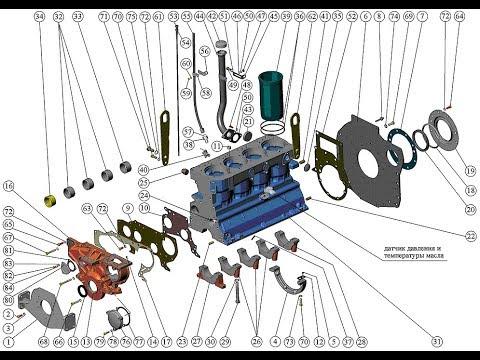 Ремонт двигателя. ММЗ  Д-245. Repair engine. MMZ D-245