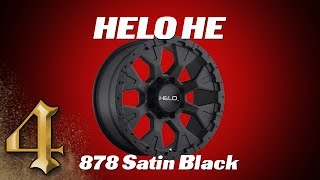 HELO HE878 Satin Black Wheel