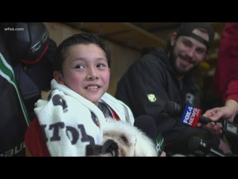 Make A Wish and Dallas Stars bring 'heaven' on the ice for a 10-year-old boy