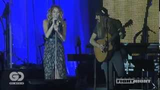Miley Cyrus ft Johnzo West - You're Gonna Make Me Lonesome When You Go - Celebrity Fight Night 2012