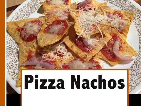 Pizza Nachos | Delicious snack from leftover pizza toppings