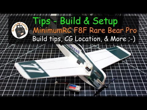 Tips - MinimumRC F8F Rare Bear Pro from Banggood - Build & Setup