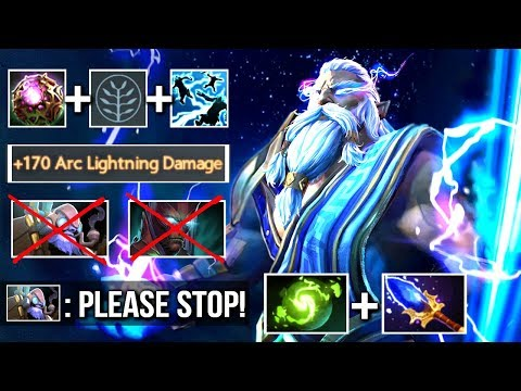 Crazy 1s 345 Damage Arc Zeus vs Hard Late Game Heroes Epic Top 50 Gameplay WTF Dota 2