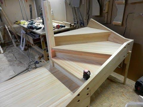 Рабочие моменты изготовления лестницы. Часть 1.
