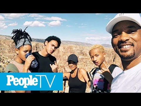 Watch Will Smith Bungee Jump Out Of Helicopter Into Grand Canyon For 50th Birthday | PeopleTV
