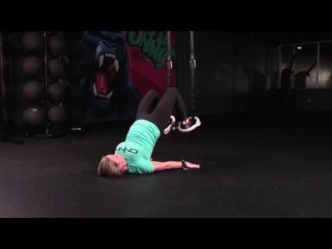 Hamstring Curl to Hip Bridge Suspension Exercise