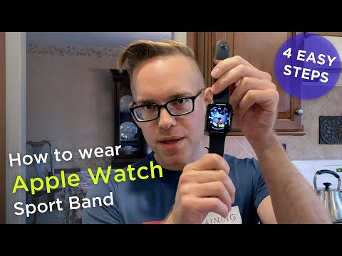 How to put on an Apple Watch Sport Band - Easy 4 Step Tutorial