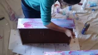 Stubborn Old Drawers Get A Whacky Revamp With Acrylics And Swipe Technique!
