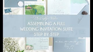 Assembling A Wedding Invitation Suite, Step By Step