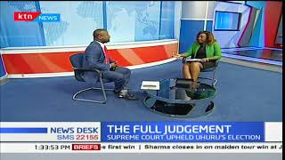 Supreme court to release full judgement on upholding President Uhuru's victory