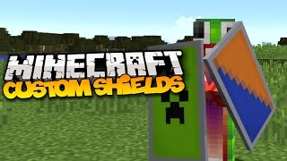 Minecraft: How To Make Custom Shields! (Minecraft 1.9)
