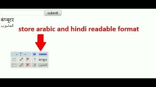 how to store arabic and hindi readable format in mysql