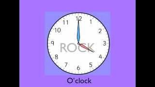Rock Around the Clock lyrics with clock faces