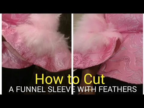 How to cut a funnel sleeve with feathers