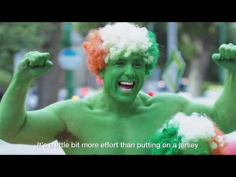 Watch Irish father and son who dress up as 'The Green Hulk' and