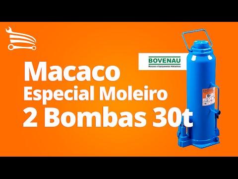 Macaco Especial Moleiro com 2 Bombas - 30 Toneladas - Video