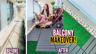 DIY CONDO BALCONY MAKEOVER: How We Transformed Our Tiny Patio On A Budget // Nat And Max