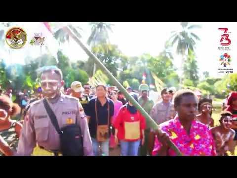 Cara Masyarakat Kamoro, Timika, Papua Menyambut Tim Esistensi Kapolri Bersama Tim Binmas Noken