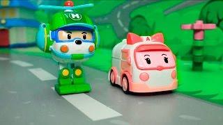 Мультфильмыс игрушками  Робокар Поли все серии подряд.