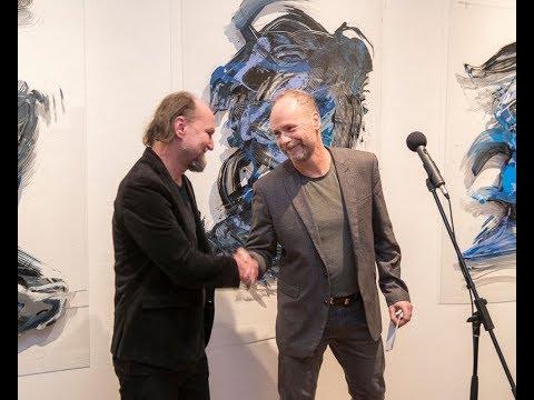 Gesztus és fény  - Radosza Attila kiállítás 1. Megnyitotta Tolnay Imre, 2017