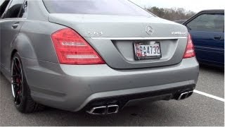 Mercedes Benz RENNTech S63 AMG Bi turbo Overview W221 | Matte | Track Race | Startup Exhaust Sound