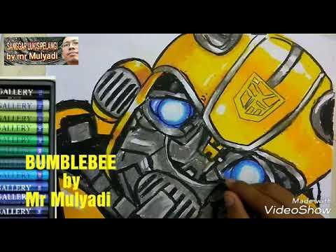 Drawing Bumblebee Transformer Menggambar Dan Mewarnai Robot