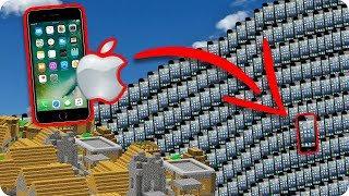 tsunami de iphone en minecraft  reto de la base vs tsunami en minecraft