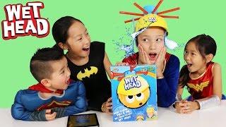 Superhero Wet Head Game Challenge Water Splashing Fun Kids Board Game Ckn Toys