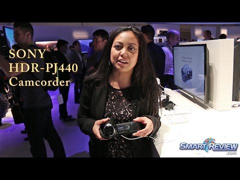 CES 2015 | Sony Handycam HDR-PJ440 Projector Camcorder | WiFi | PJ440/B | SmartReview.com