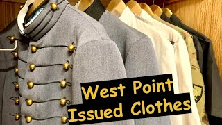 What do you get issued at West Point? (clothes)