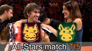 All-Stars match — closest comeback on The International 2015