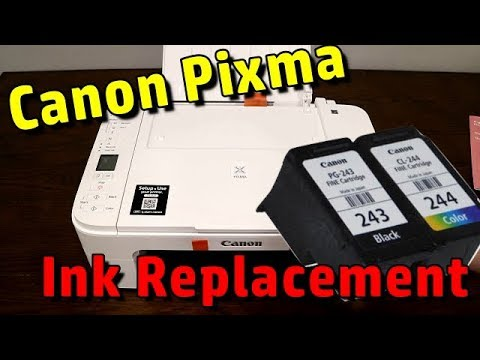 Replace INK in Canon Pixma TS3100 / TS3122 Printer cartriges