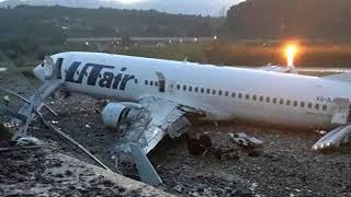 Переговоры пилотов Боинг 737 (ЮТэйр) в Сочи после выката с ВПП
