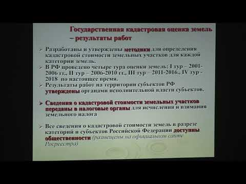 Сапожников П. М. - Оценка земельных ресурсов - Лекция 3