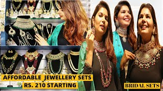 Affordable Artificial And Bridal Jewellery Set Collection | Jewellery Wholesale Market Sadar Bazar
