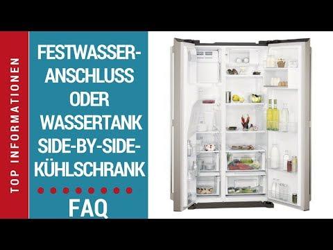 Side-by-Side Kühlschrank - Festwasseranschluss oder Wassertank