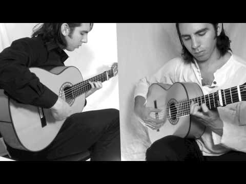 A flamenco guitar duet