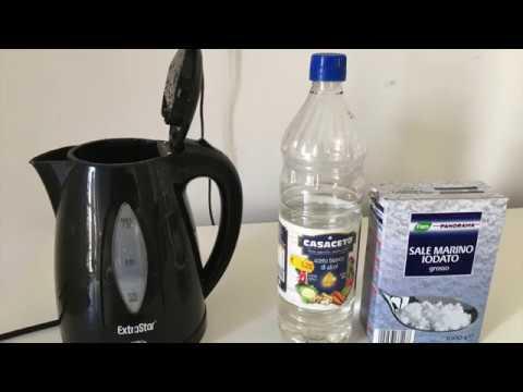 how to clean limestone kettle /come pulire bollitore calcare