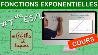 Les fonctions exponentielles T-ES