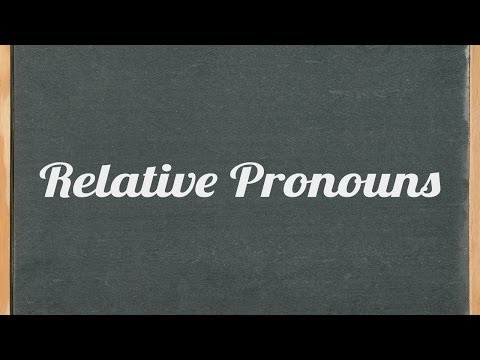 Relative pronouns (who, which, that, whose, whom & what) - English grammar tutorial video lesson