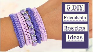 5 DIY Friendship Bracelets Ideas| Macrame Bracelets |Thread Bracelet |Jewellery Making| Creation&you