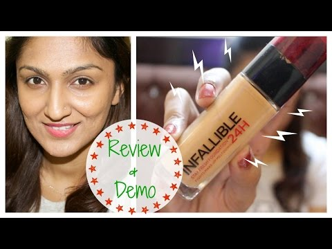 L'oreal Infallible 24h Foundation Review & Demo