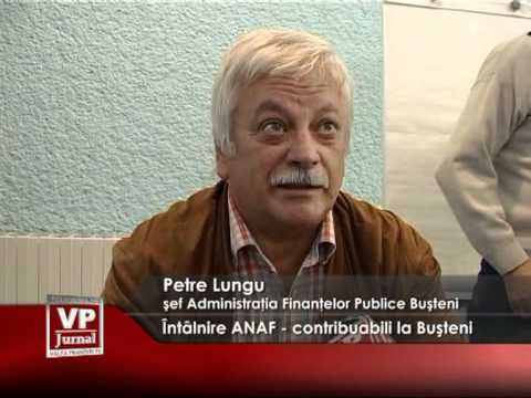 Întâlnire ANAF-contribuabili la Buşteni