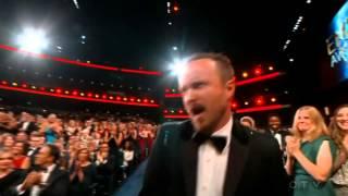 Aaron Paul Wins An Emmy For Breaking Bad 2014