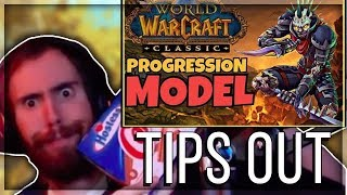 """Asmongold Reacts to """"Classic WoW Progression vs. Modern WoW Progression 